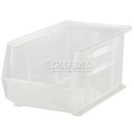 Quantum QUS242 Plastic Storage Stacking Ultra Bin, 13-Inch by 8-Inch by 8-Inch, Clear, Case of 12 by Quantum Storage Systems