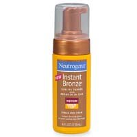 Neutrogena Instant Bronze Sunless Tanner and Bronzer-In-One, Medium, 4 Fluid Ounce (Pack of 2)