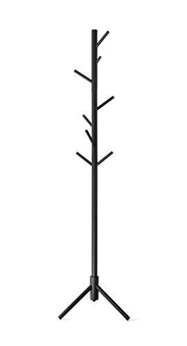 Topline Hat Coat Rack, Freestanding Wooden – Matte Black