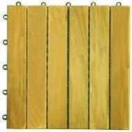 (5 Slat Acacia Interlocking Deck Tile)