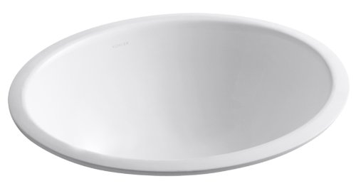 (KOHLER K-2205-0 Caxton Undercounter Bathroom Sink with Center Drain, White)
