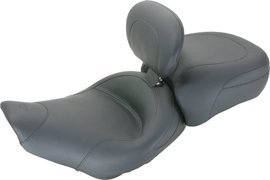 Mustang Vintage Solo Seat with Backrest 79600 - Mustang Contoured Vintage Pad