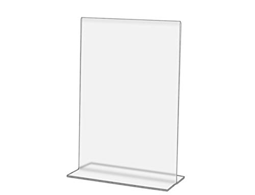 (Marketing Holders Literature Flyer Poster Frame Letter Notice Menu Food Wine Restaurant Dining Pricing Deli Table Tent Countertop Expo Event Sign Holder Display Double Sided 3.5