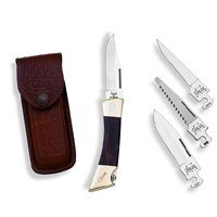 Case Cutlery 00174 XX-Changer Knife with 4 Interchangable Stainless Steel Blades Rosewood, Outdoor Stuffs