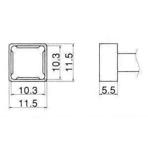 白光(HAKKO) 交換こて先 T12-1202 クワッド10.3×10.3  B002NPAJ6A