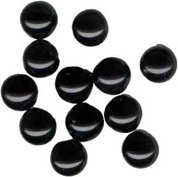 Black Round Glass Jewels Flat Foil Backed, 5mm, pack of 12 Tiny
