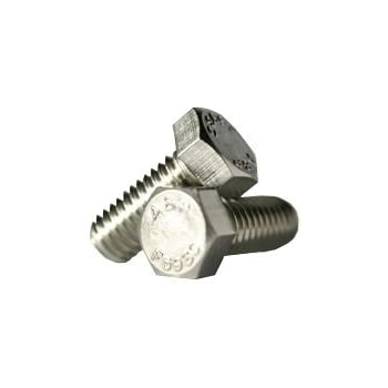 Fully Threaded Coarse Thread Stainless Steel Grade 316 Hex Head Cap Screws 1//4-20 x 1//2 Hex Head Bolts Quantity: 100 Thread Diameter: 1//4 inch Length: 1//2 inches