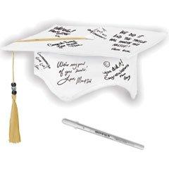 Kids Graduation Hat (Grad Hat with Pen Graduation Party Autograph Keepsake Favour, Fabric, 7