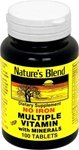 Nature's Blend Multiple Vitamin with Minerals No Iron 100 Tabs