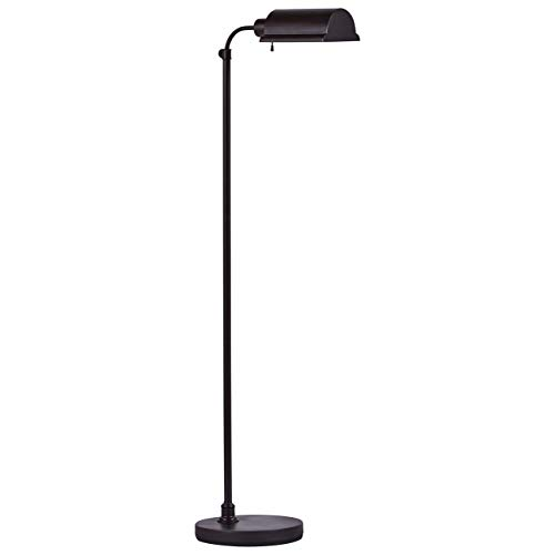 Stone & Beam Modern Pharmacy Living Room Standing Floor Lamp With Light Bulb - 48 x 10 x 15 Inches, Matte Black