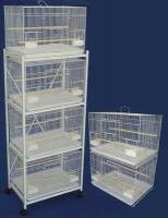 (Brand New Lot of Six Aviary Breeding Bird Cage 24x16x16/Stand - WHITE)