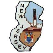 Metal Lapel Pin - USA State Maps - New Jersey