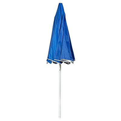6.5' Portable Beach and Sports Umbrella by Trademark Innovations (Blue) : Garden & Outdoor