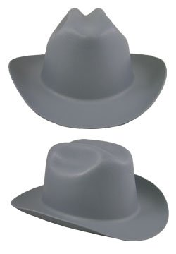 Jackson Safety Gray Cowboy Hard Hat - 4-Point Suspension - Ratchet Adjustment - 19525 [PRICE is per EACH]