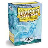 Dragon Shield Matte Clear Standard Size Card Sleeves Display Box [10 packs]