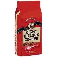 Eight O'clock Coffee Original Whole Bean 12oz 4pak