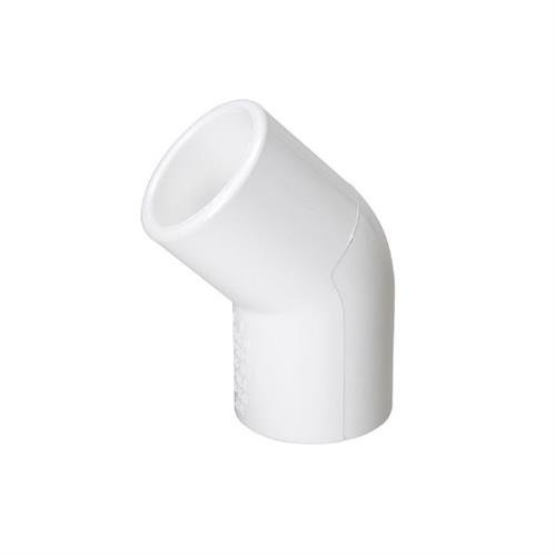 """3/4"""" Schedule 40 PVC - 45 Degree SCH40 Pipe Elbow - Pack of 10"""