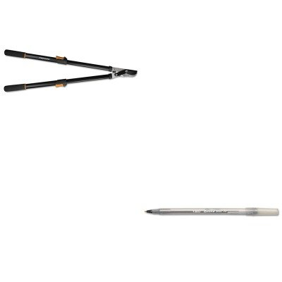 KITBICGSM11BKFSK91686935J - Value Kit - Fiskars Telescoping Power-Lever Bypass Lopper (FSK91686935J) and BIC Round Stic Ballpoint Stick Pen (BICGSM11BK) Telescoping Lopper