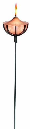 - Good Directions 203CH-C Yard and Garden Torch Large Oil Lamp and 60-Inch Pole, Hammered Copper Finish, 4-Pack