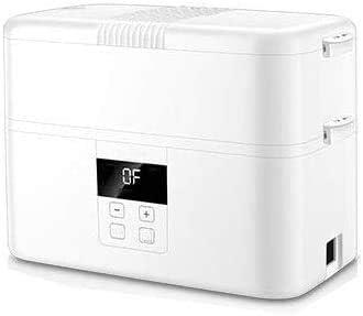マイクロ波加熱のプラグインタッチスクリーンポータブルマルチファンクション電気スチーム弁当巻き二重層インテリジェント熱いご飯の保存