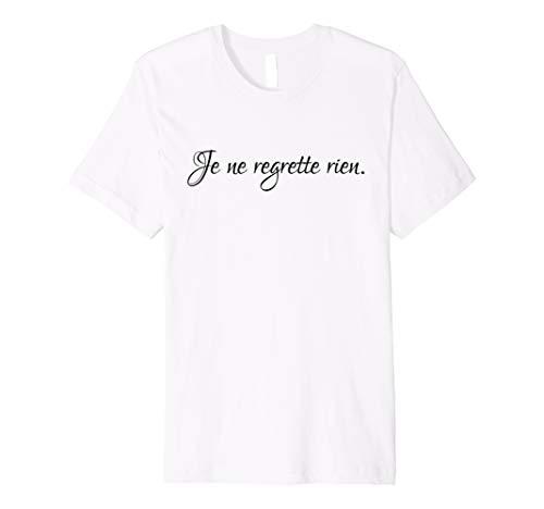 Je Ne Regrette Rien Tshirt from Scarebaby Design