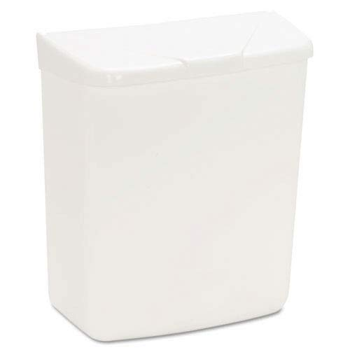 Health Gards Plastic Convertible Sanitary Napkin Receptacle, White 1 Gallon - HOS250201W (HOS 250/201W) by Hospeco