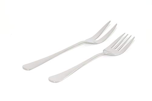 (Serving Fork Set - Set of 2 Large and Medium Stainless Steel Serving Utensils by Mallets Bay)