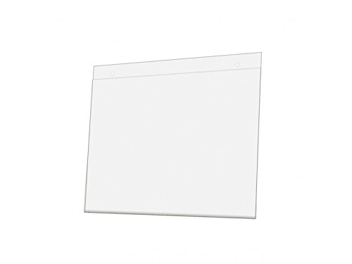 Wall Mount Sign Holder Pre-Drilled Premium Acrylic Ad Sign Frame 11