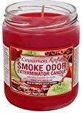 Smoke Odor Exterminator 13 oz Jar Candles Cinnamon Apple, (3) Set of Three Candles.