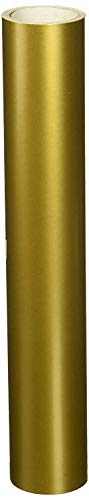 """Metallic Gold Glossy 12"""" x 10 Foot Roll of Oracal 651 Permanent Adhesive-Backed Vinyl for Craft Cutters, Punches and Vinyl Sign Cutters"""