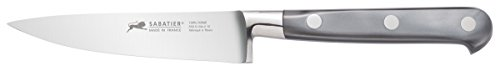 - Sabatier 5137487 Triple Rivet Stainless Steel Paring Knife with Mother of Pearl Inspired Handle, 4-Inch, Silver Gray