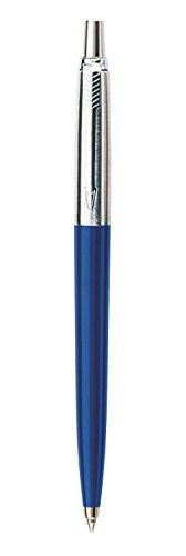 Parker S0705610 Jotter-Kugelschreiber (blau mit Chromeinfassung, Blister verpackt) schreibfarbe blau