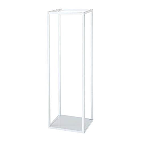 Metal Display Shelf Stand Plants Stand Indoor Outdoor Flower Pot Rack (Size - White 32cm)