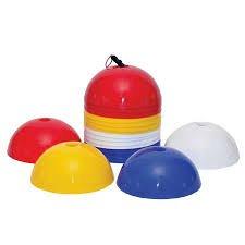 CW 50Stück Dome Cones Fitness Fußball Fußball Marker Mehrzweck-Zapfen Bright Sport Spiele Training Praxis Bereich Pitch Marker Field Track Kegel Bright Multicolor mit Ständer