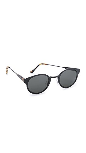 Super Sunglasses Women's Panama Intellect Sunglasses, Black/Black, One - Sunglasses Super Panama