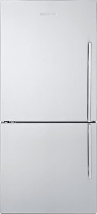 Blomberg BRFB1812SSL 30'' 17.8 cu. ft. Bottom-Freezer Refrigerator with Electronic Controls Anti-Fingerprint Door White LED Lighting Frost Free and Anti-Bacterial Interior in Stainless Steel (Left by Blomberg