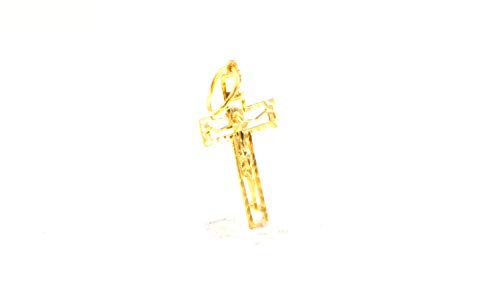 forever22karat 22k Dazzling Unique Jesus Cross Christian Pendant 22k Plated p2149