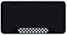 mini cooper black checkerboard license plate frame - Mini Cooper License Plate Frame