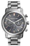 Michael Kors Pennant Chronograph Grey Dial Gunmetal Ion-plated Mens Watch MK8369