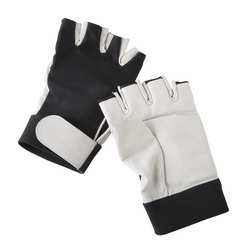 CONDOR 2HEW5 Anti-Vibration Gloves, Blck/Wht, XL, Half