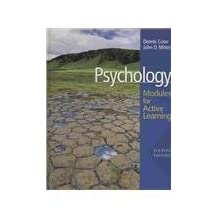Psychology: Modules for Active Learning with Concept Modules with Note-Taking and Practice Exams by Dennis Coon (2008-01-15)