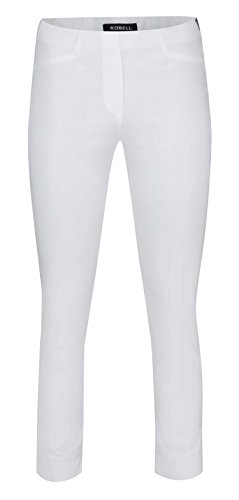Robell ROSE 7/8 Hose Super Slim Leg - weiß (36, weiß)
