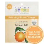 (Aura Cacia Relaxing Sweet Orange Aromatherapy Mineral Bath Salt, 2.5 Ounce Packet - 6 per case.)