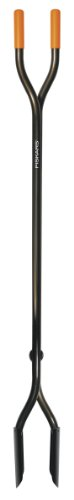 Fiskars 60 Inch Steel Posthole Digger (Digger Post Handle Hole)