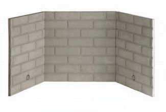 Superior BLB36SF White Stacked Ceramic Fiber Brick Liner