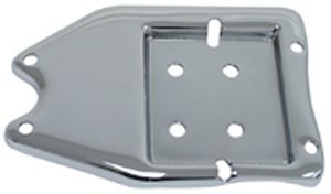 Big Twin Parts (Chrome Plated<br>Battery Tray & Oil Tank Plate<br>Fits Big Twin 6 volt Rigid & Swingarm frame 1936/1964<br>Replaces HD# 62575-36 Horseshoe oil tank mounting parts for early big twin -by-Paugcho)