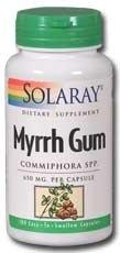 Myrrh Gum - Solaray - Myrrh Gum, 620 mg, 100 capsules