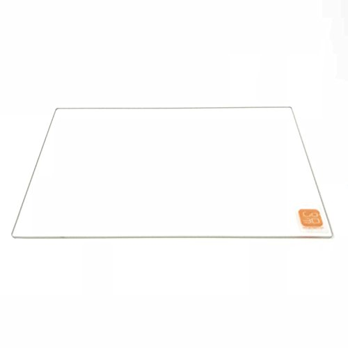 - GO-3D PRINT 150mm x 230mm Borosilicate Glass Plate/Bed w/Flat Polished Edge for Flashforge Creator & Makerbot Replicator 3D Printer