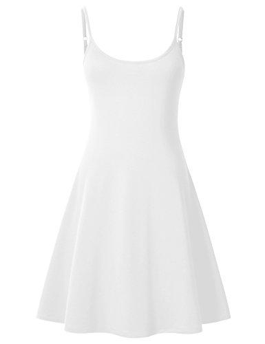 Perfashion Women Shops Plus-Size Dresses Casual Slip Dress for Women White Large