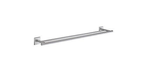 Smedbo SME RS3364 Towel Rail Double, Brushed Chrome